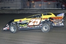 Shane Clanton trucks toward victory in Monday's 30-lap UMP DIRTcar feature that opened the DIRTcar Nationals at Volusia Speedway Park. (stlracing.com)