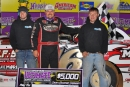 Randy Weaver and his crew enjoy victory lane March 28 after his Ultimate Super Late Model Series victory at Smoky Mountain Speedway. (mrmracing.net)