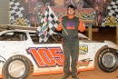 Taylor Mitcham of Lafayette, Ala., won March 28's Crate Late Model feature at Senoia (Ga.) Raceway. (pbase.com/22fstops)