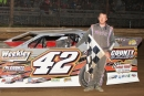 Chris Garnes of Evans, W.Va., captured April 11's AMRA-sanctioned feature at Legendary Hilltop Speedway in Marietta, Ohio. (Zach Yost)