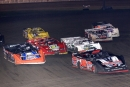 Kevin Kile leads a pack April 10 during action at Davenport (Iowa) Speedway's Rebel 5K. (chrisdamitz.com)