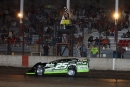 Chad Simpson takes the checkers in April 17's event at Davenport (Iowa) Speedway tri-sanctioned by MARS, ALMS and the Corn Belt Clash. (mikerueferphotos.photoreflect.com)