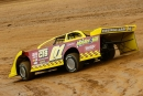 Devin Friese drove a lookalike car to Rodney Franklin's historic ride during Hagerstown (Md.) Speedway's Salute to a Champion on April 18. (wrtspeedwerx.com)