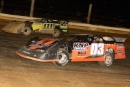 Max Blair (111) overtook Garrett Paugh (03) late in Saturday's RUSH tour event at Roaring Knob Motorsports Complex for a $1,200 victory. (Tommy Michaels)