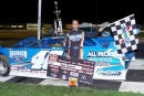 Kyle Bronson won April 24 at Bubba Raceway Park in Ocala, Fla., for his second straight United Dirt Late Model Challenge Series victory. (ricksdarkroom.com)
