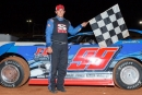 Derek Ellis of Chatsworth, Ga., earned $3,000 April 26 at Rome (Ga.) Speedway with his Rome Rumble Super Late Model victory. (praterphoto.com)