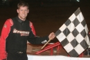 Jared Hawkins earned $4,000 on May 2 at Tyler County Speedway in Middlebourne, W.Va., for his Topless 50 victory. (Todd Battin)