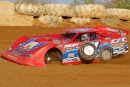 Delmas Conley went three-wheeling during May 2 time trials at Atomic Speedway near Chillicothe, Ohio. He rebounded to finish second in the feature. (Tyler Carr)