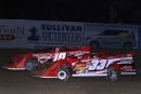 Hometown driver Mark Burgtorf (33B) overtook Daryn Klein (10) for a Big 10 victory on May 17 at Quincy (Ill.) Raceway. (John Vass)
