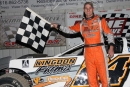 Ryan Unzicker of El Paso, Ill., picked up $2,000 on May 22 at I-96 Speedway in Lake Odessa, Mich., on the Sunoco American Late Model Series. (Jim DenHamer)