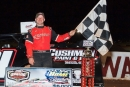 Casey Roberts picked up $6,000 for capturing the final points race on the Old Man's Garage Spring Nationals at Rome (Ga.) Speedway. (Phillip Prichard)