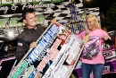 Brad Skinner enjoys victory lane after his $3,500 victory in Duck River Raceway Park's Memorial Day Classic. (photobyconnie.com)