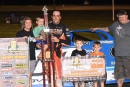 Jesse Stovall earned $3,000 on June 25 at Park Jefferson (S.D.) International Speedway for his MARS-Corn Belt Clash victory. (Jeff Bylsma)