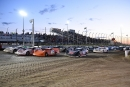 The four-wide parade laps at June 26's Alphabet Soup Classic at I-80 Speedway in Greenwood, Neb., Kyle Berck won. (fasttrackphotos.net)