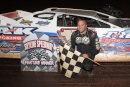 Zack Dohm won June 28 at Skyline Speedway in the reopening of the Stewart, Ohio, oval under promoter Freddie Carpenter, who finished third. (Tyler Carr)