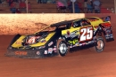 Shane Clanton heads to a $4,025 victory July 4 at Senoia (Ga.) Raceway's Billy Clanton Memorial, a race honoring his father. (Glen Starek)