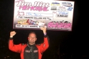 Tim Senic earned $5,000 on July 4 at Elkins (W.Va.) Raceway with his victory in the fifth annual Jim Hitt Memorial. (Tommy Michaels)