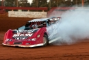 Dennis Franklin had problems early, but they cleared up for July 25's $5,300 victory in Schaeffer Oil Southern Nationals action at Screven Motor Speedway. (Glen Starek)