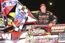 Dennis Franklin earned $3,500 July 27 at Modoc (S.C.) Raceway in becoming the first two-time winner on the Schaeffer Oil Southern Nationals. (Glen Starek)