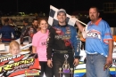 Tad Pospisil of Norfolk, Neb., became the first three-time winner on the Super Late Model Racing Series on July 31 at Rapid Speedway in Rock Rapids, Iowa. (Jeff Bylsma)