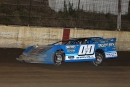 Jesse Stovall of Galena, Mo., led all 50 laps of Farley (Iowa) Speedway's Monday Mayhem feature Aug. 3 with the Lucas Oil Midwest LateModel Racing Association. (mikerueferphotos.photoreflect.com)