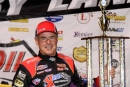 Billy Moyer led all 40 laps Aug. 4 at West Liberty (Iowa) Raceway for his 40th career MLRA victory and 799th overall of his career. (John Vass)