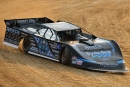 Scott Bloomquist set fast time and won a heat race during Friday night's qualifying program for the Lucas Oil Series-sanctioned 27th annual Pittsburgher 100 at Pittsburgh's Pennsylvania Motor Speedway. (Jason Shank)