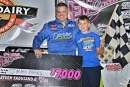 Jimmy Mars enjoys Aug. 30's George Scheffler Memorial victory in Oshkosh, Wis., with his son. He earned $7,000 for his first Corn Belt Clash victory. (Shawn Fredenberg)