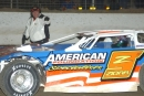 Jayme Zidar was pointed to the tail April 8, 2005, at Limaland (Ohio) Motorsports Park, costing him a Sunoco American Late Model Series victory. (DirtonDirt.com)