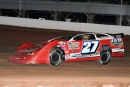 Three-time race winner Jake Redetzke heads to a heat race victory Oct. 2 at ABC Raceway's Red Classic in Ashland, Wis. (shooterguyphotos.com)