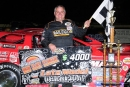 Jimmy Mars won the Late Model portion of ABC Raceway's Red Clay Classic for the fifth time on Oct. 3, earning $4,000 in Ashland, Wis. (shooterguyphotos.com)