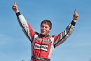 Bobby Pierce won the DIRTcar Fall Nationals for the second straight season at Eldora Speedway to earn $5,000 and stretch his personal win streak to eight. (campbellphoto.com)