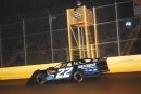 Gregg Satterlee takes the checkers for his $6,500 victory in Winchester (Va.) Speedway's Winchester 200 on Oct. 10. (Travis Trussell)