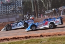 Josh Richards (1) regained the lead from Jonathan Davenport (6) en route to victory lane. (Heath Lawson)