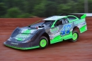 Tyler Crowder gets rolling May 28 at East Alabama Motor Speedway in Phenix City, where he captured the night's Southern Thunder Late Model Series feature. (Eric Gano)