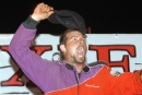 Dusty Chitwood celebrates his lone career Southern All Star victory June 18, 2005, at Dixie Speedway in Woodstock, Ga. (Brian McLeod)