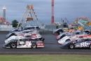 NLRA's four-wide parade lap for June 22's Norman County Fair Race won by Brad Seng in Ada, Minn. (speedway-shots.com)