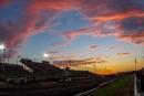 The sun sets over I-80 Speedway in Greenwood, Neb., during the July 23 Silver Dollar Nationals finale. (heathlawsonphotos.com)