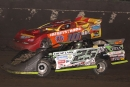 Jason Feger (25) outdueled Guy Taylor (10) for a $2,000 Midwest Big 10 Series victory July 23 at Macon (Ill.) Speedway. (Jim Jones)