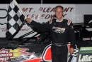 Curtis Roberts earned $4,000 Aug. 19 at Mount Pleasant (Mich.) Speedway for his first career the American Ethanol Late Model Tour victory. (Jim DenHamer)