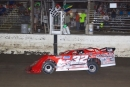 Bobby Pierce takes the checkers Aug. 27 at Federated Auto Parts Raceway at I-55 for his $5,000 MARS DIRTcar Series victory. (stlracingphotos.com)