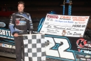 Gregg Satterlee earned $6,000 Sept. 24 at Dog Hollow Speedway in Strongstown, Pa., on the UFO Championship Series. (Rick Neff)
