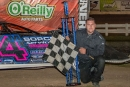 Mitch McGrath won Sept. 19's WDLMA Lucky 7 event at 141 Speedway in Francis Creek, Wis. (Shawn Fredenberg)