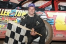 Michael Norris earned $3,000 Oct. 15 at his hometown Lernerville Speedway in the Super Late Model portion of the Steel City Stampede. (Howie Balis)