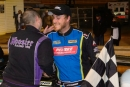 Keith Jackson is congratulated in victory lane Oct. 15 at Hagerstown (Md.) Speedway after his $4,000 Ernie D's Fall Bash triumph. (Jason Walls/wrtspeedwerx.com)