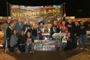Bobby Pierce's supporters enjoy his third Keyser Manufacturing Wild West Shootout victory Jan. 13 at Arizona Speedway near Phoenix. (mikerueferphotos.photoreflect.com)