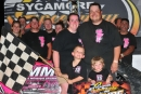 Three-time Sycamore (Ill.) Speedway champion Jay Brendle raises money for Breast Cancer Awareness while piling up victories. (Dan Simpson)