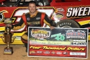 Tim McCreadie of Watertown, N.Y., earned a $3,000 payday by winning the Southern Nationals Bonus Series opener at Boyd's Speedway in Ringgold, Ga. (Ronnie Barnett)
