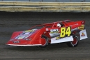 Sam Halstead heads for a Crate Late Model victory April 21 at Lee County Speedway in Donnellson, Iowa. (John Vass)