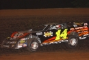 Brandon King of Decatur, Ala., heads toward a $3,000 victory at Winchester (Tenn.) Speedway on Memorial Day weekend in 2005. (Brian McLeod)